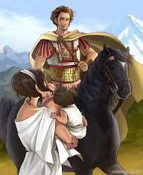 Alexander the Great and his horse,