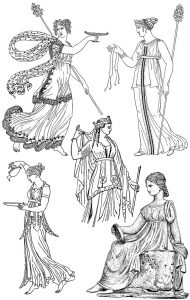 Ancient Greece female costumes