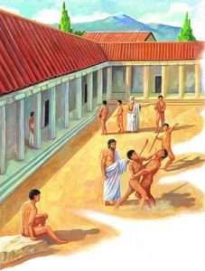 Ancient Greece's boys went to school