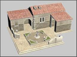Ancient Greek Home and Courtyard