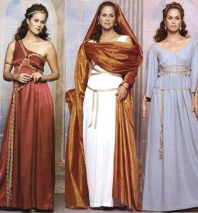 Greek dress styles and Greek dress
