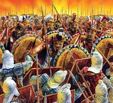 Spartans against the Persian army