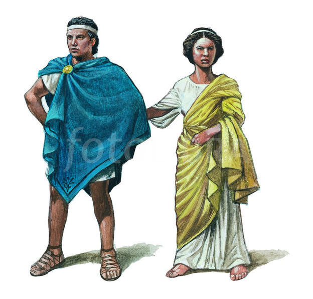 Ancient Greek Clothing, Chiton, Doric And Himation